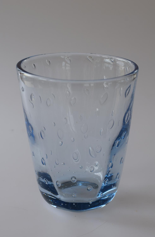 Small Sapphire blue bubble vase