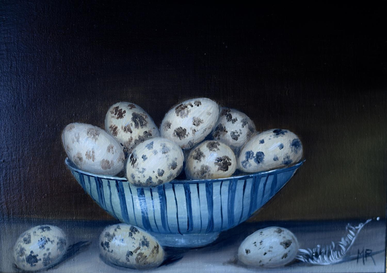 Bowl of quail's eggs
