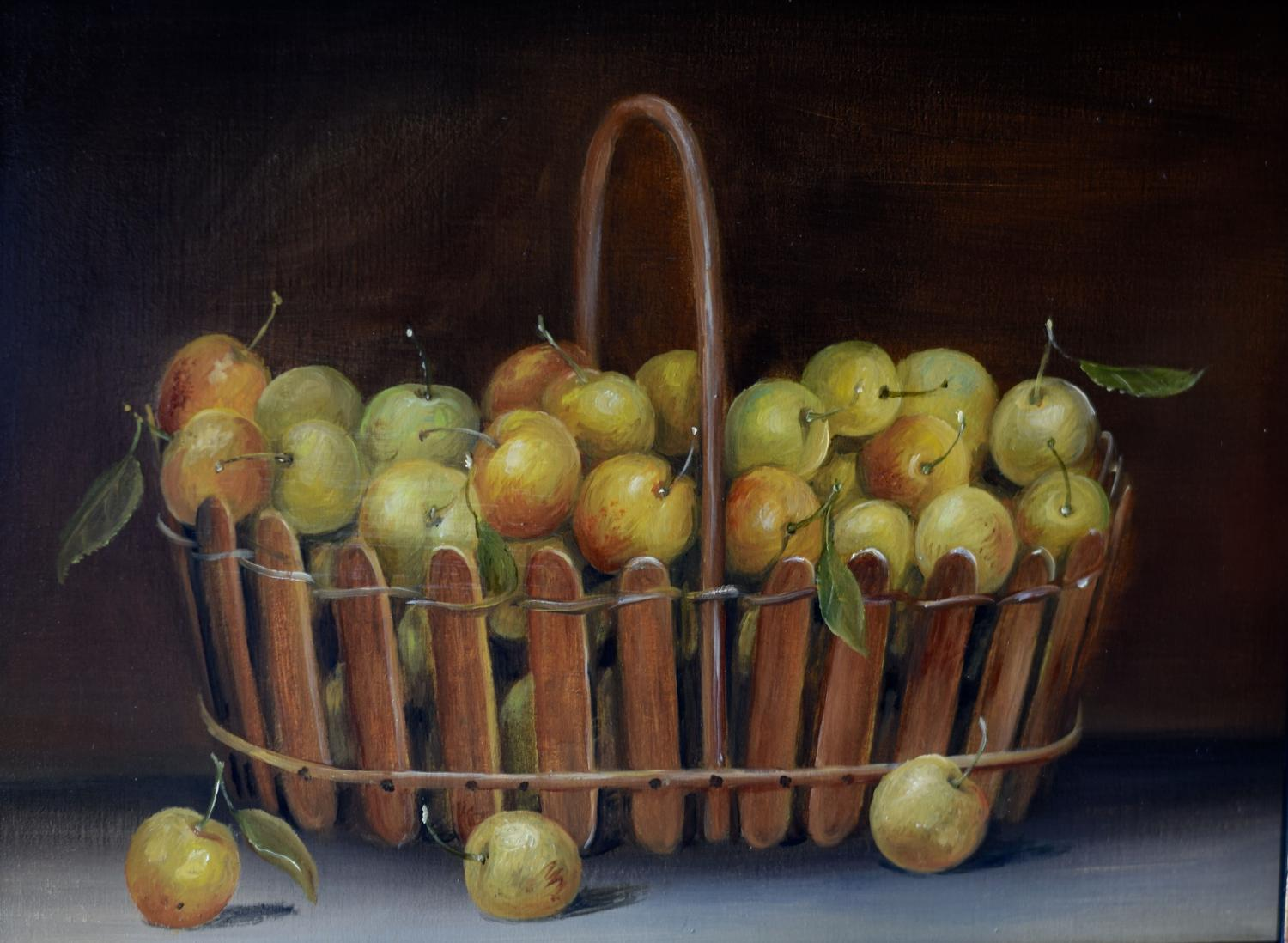 Basket of mirabelles