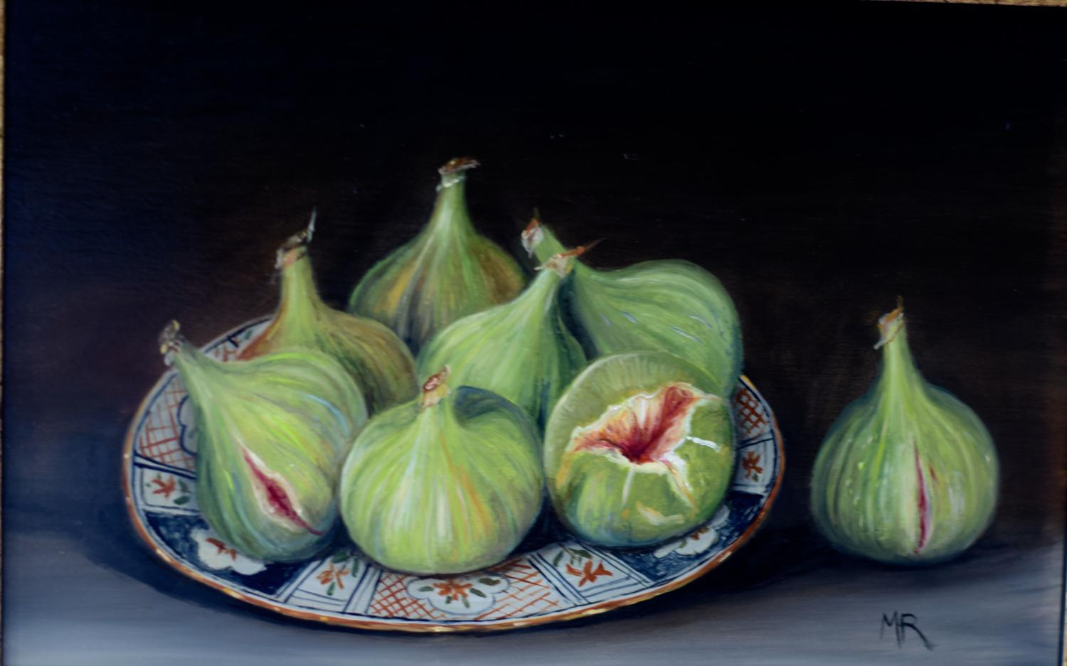 Plate of green figs