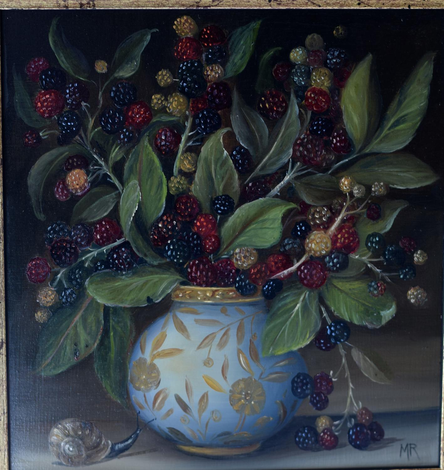 Blackberries and snail
