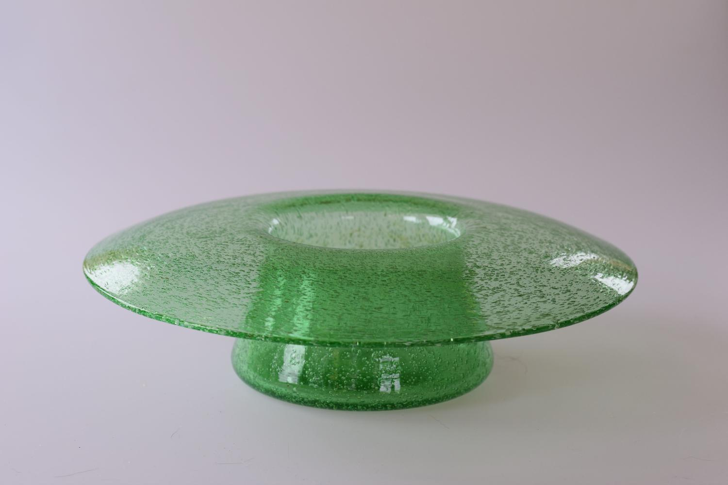 Green Pompeian posy bowl