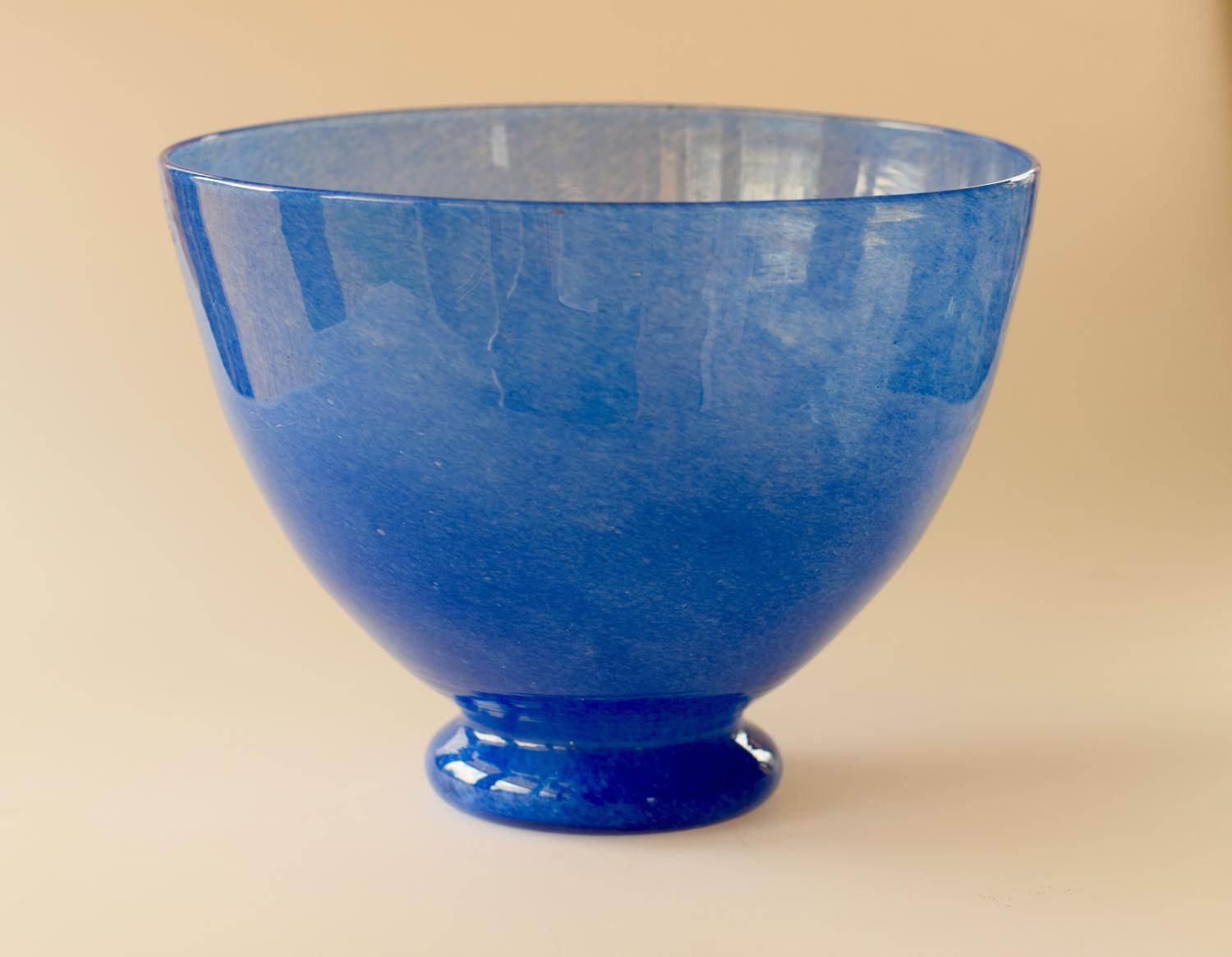 Blue cloudy bowl