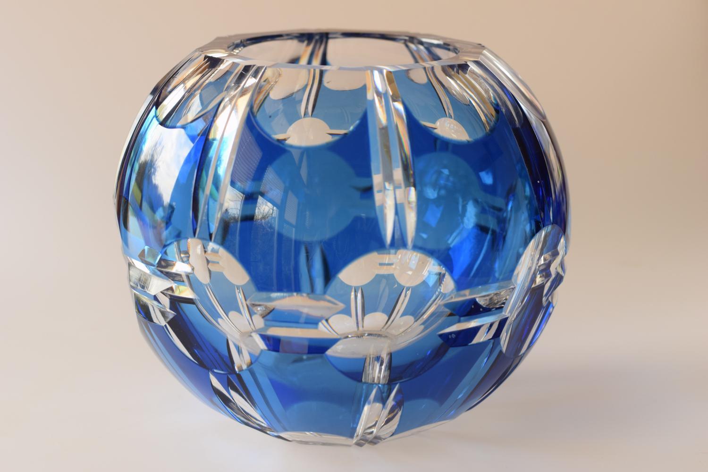 Blue/white Val St Lambert vase