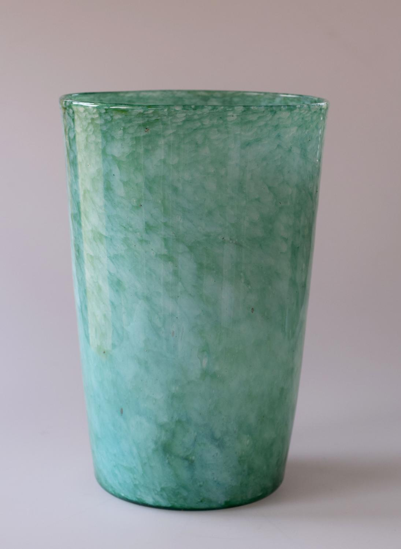 Whitefriars green tumbler vase