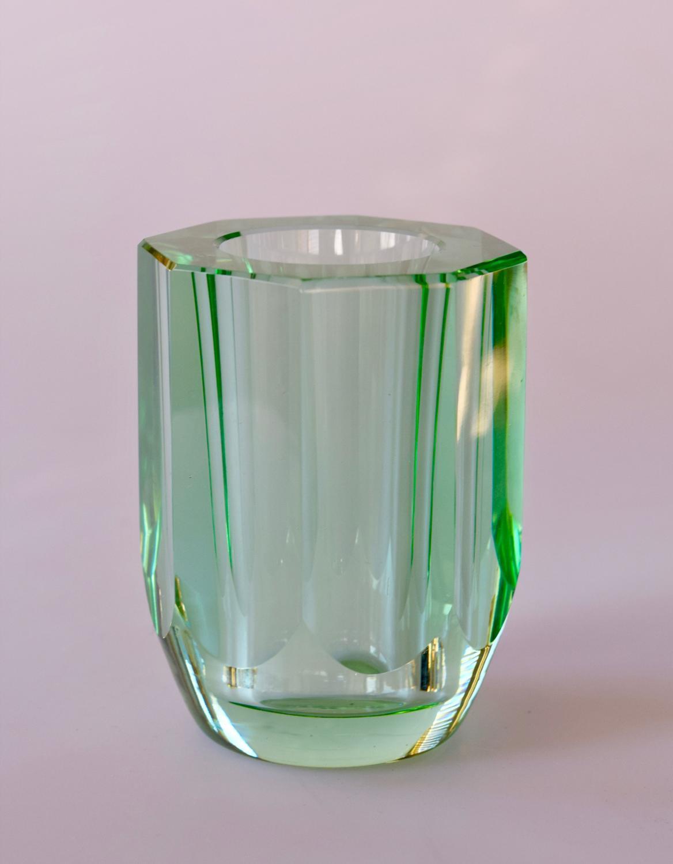 Small green Daum vase.