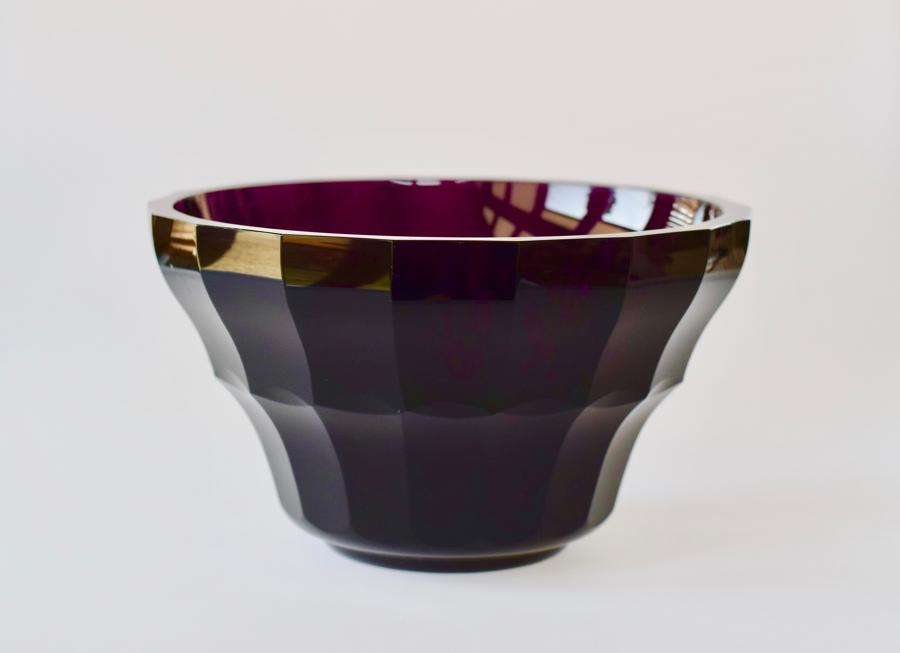 Purple Moser bowl.