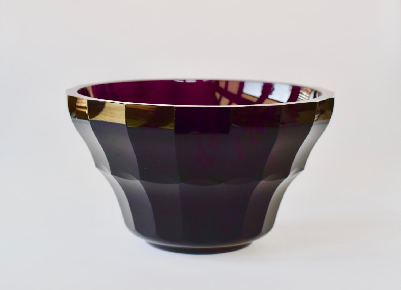 Purple Moser bowl.