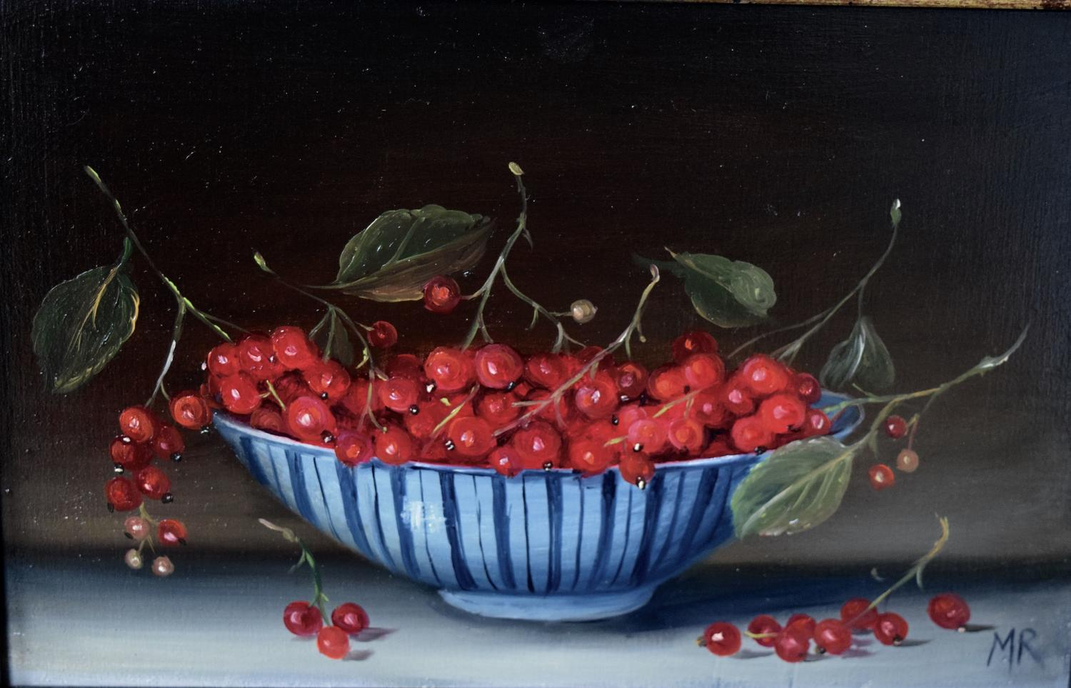 Painting of red currants
