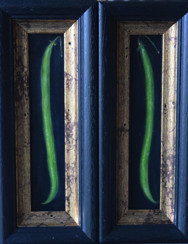 2 bean paintings