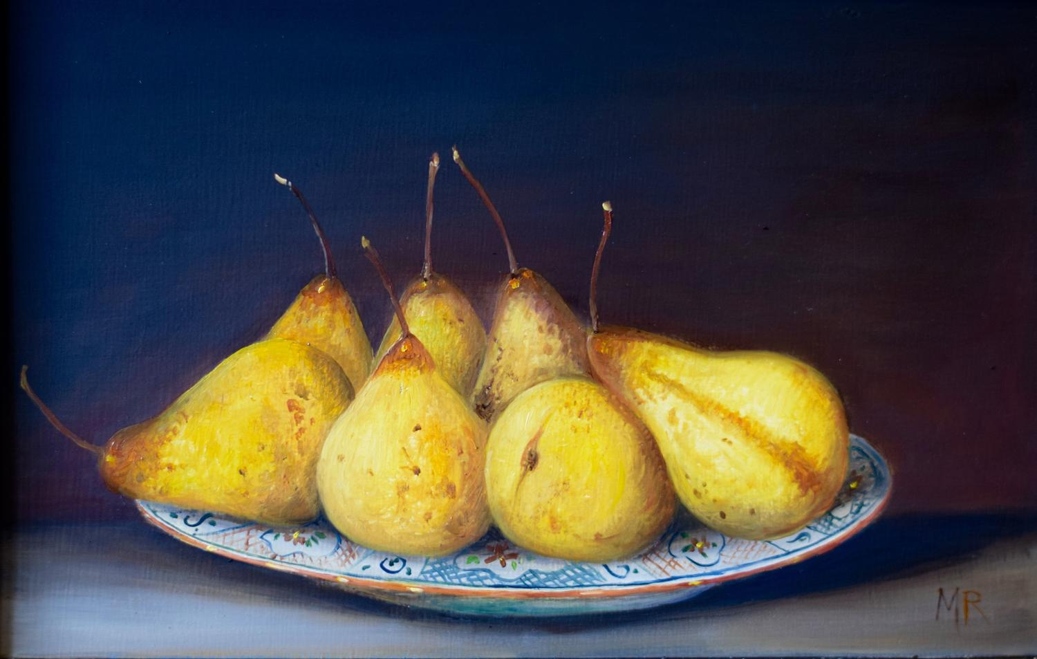 Plate of pears