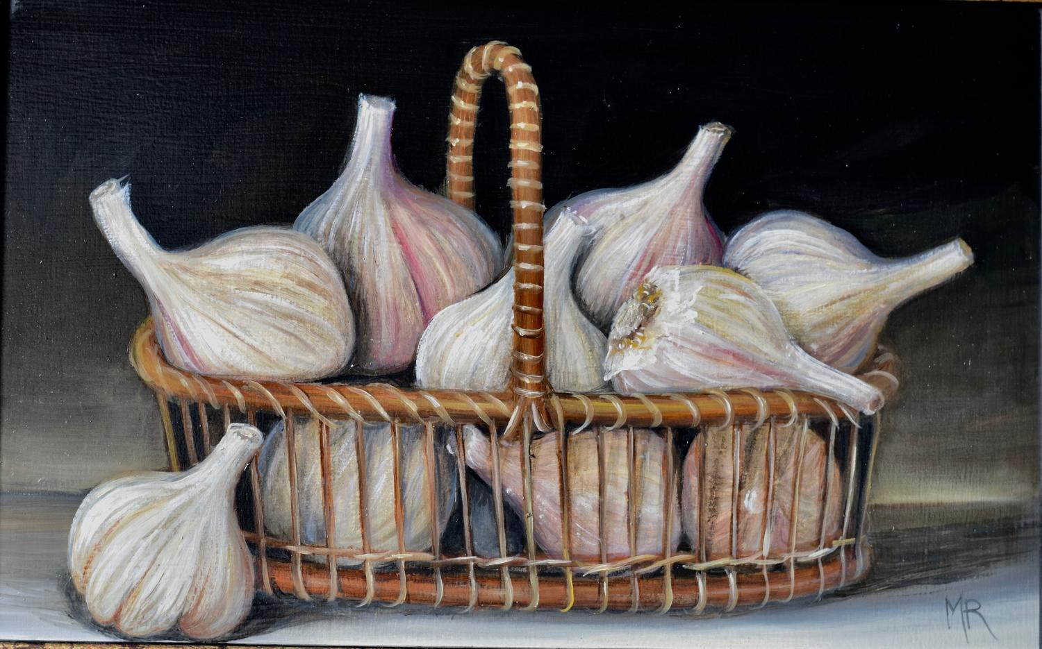 Basket of garlic