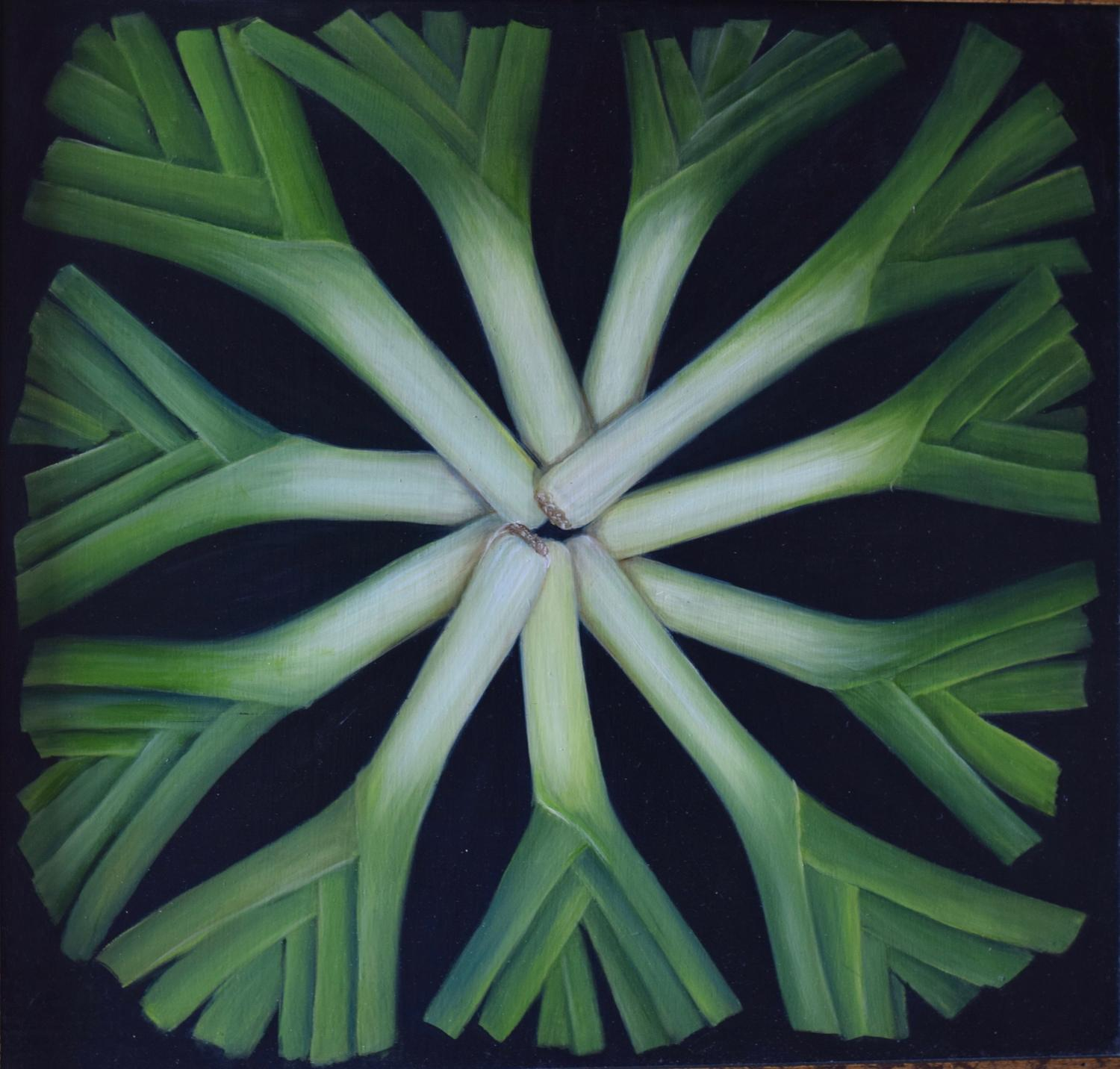 Circle of leeks