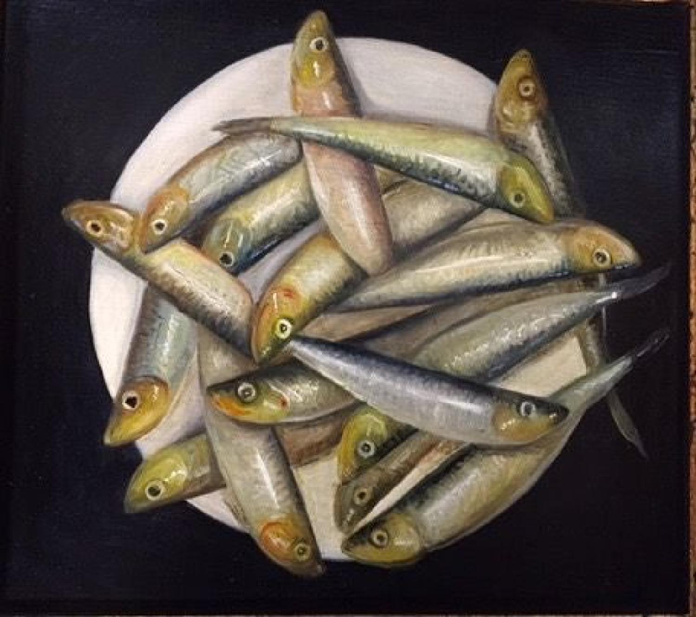 Sprats on a plate
