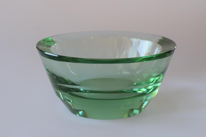 Moser Modernist green bowl