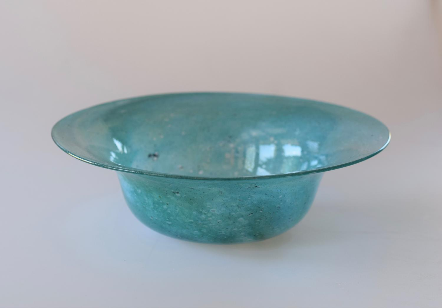 Whitefriars blue cloudy bowl