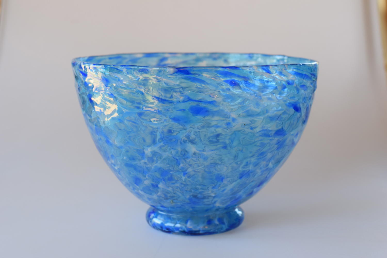 Cloudy/streaky blue bowl, William Butler.