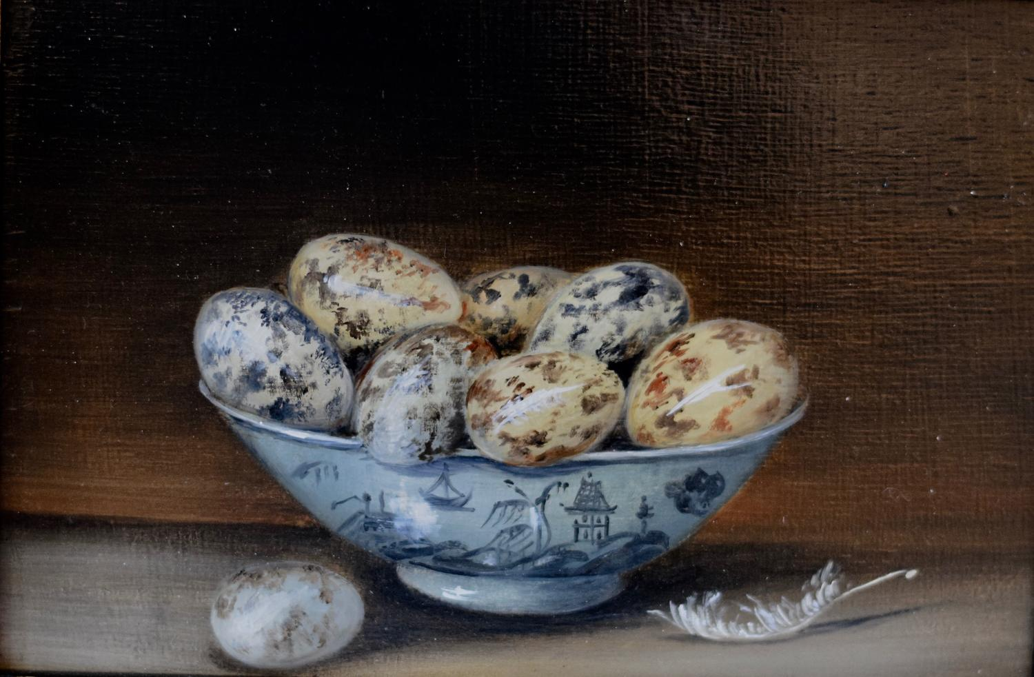 Painting of Quail's eggs