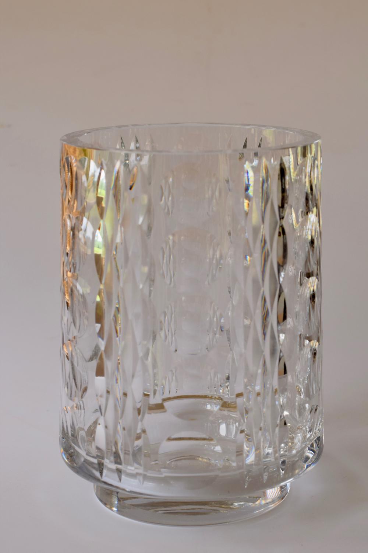 Czech cut vase