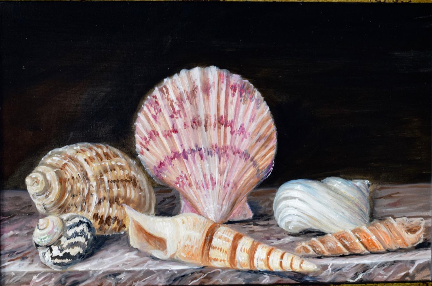 Shells on a marble top