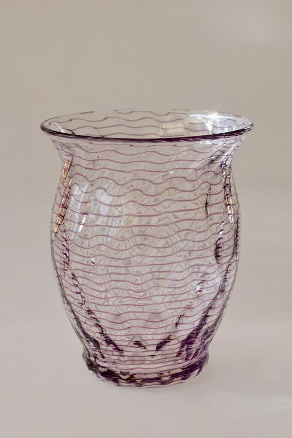 Threaded vase
