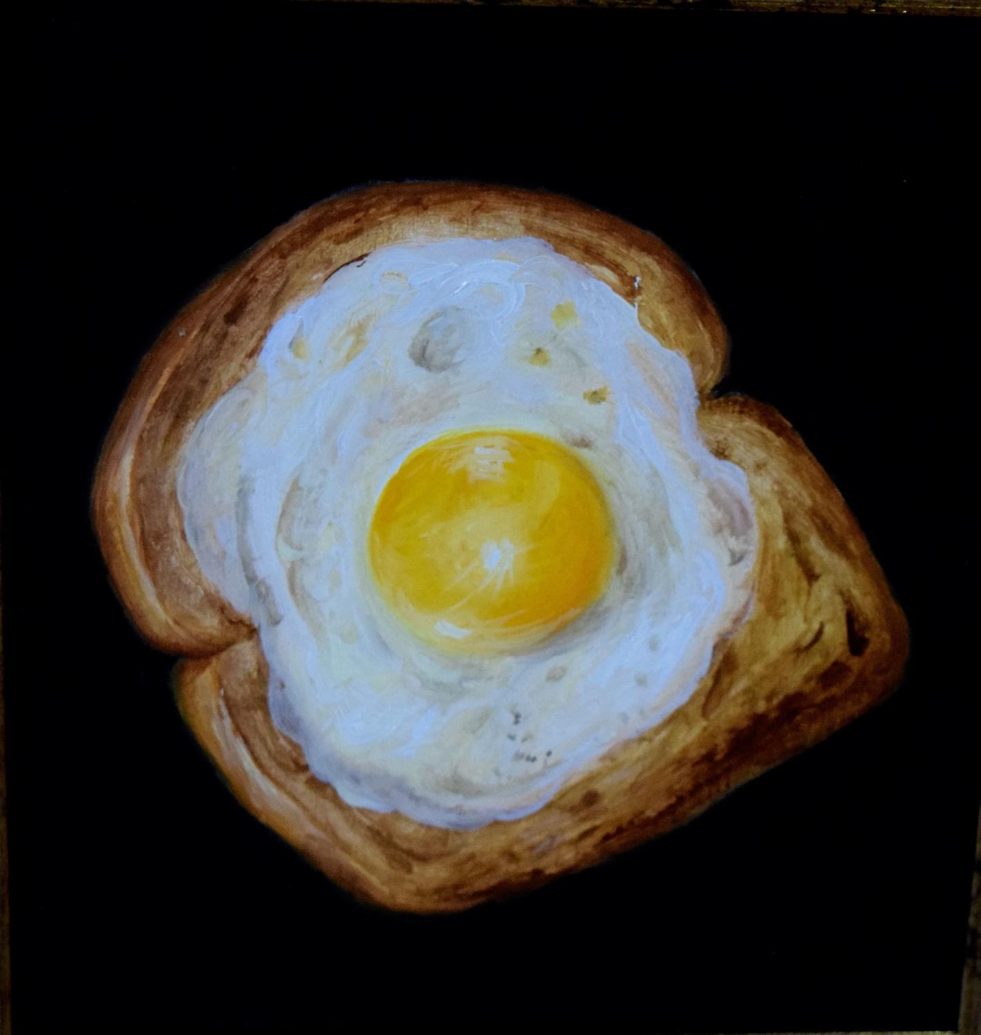 Fried egg on toast.