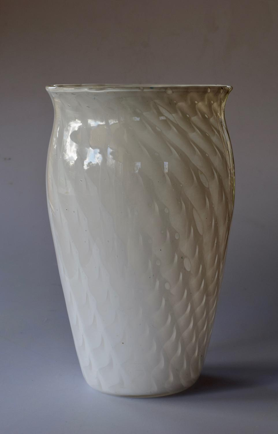 Large white lattice vase