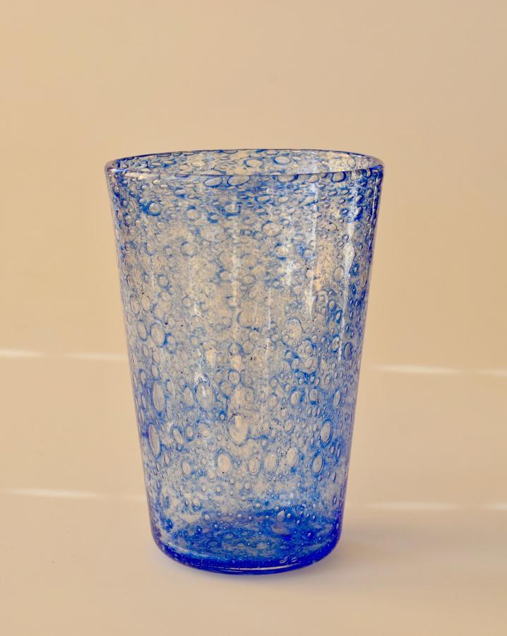 Blue bubble vase
