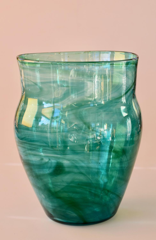 Streaky green vase, Harry Powell