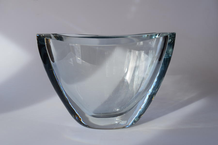 Stromberg oval ice blue vase