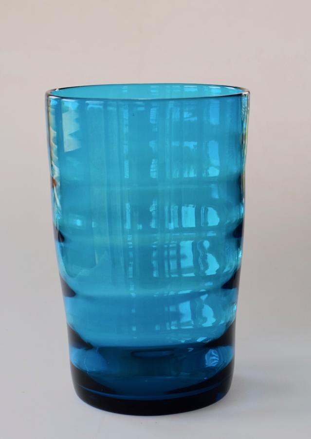 Kingfisher blue vase