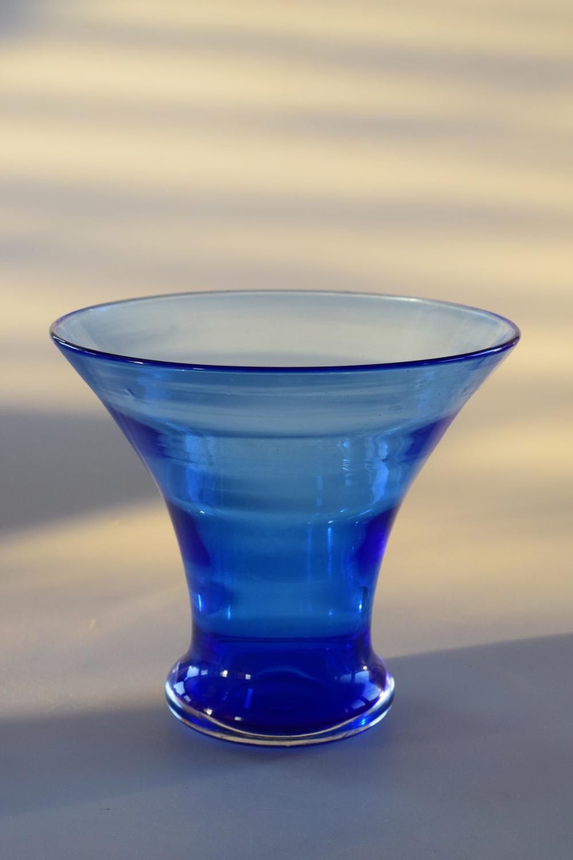 Blue Stevens and Williams vase