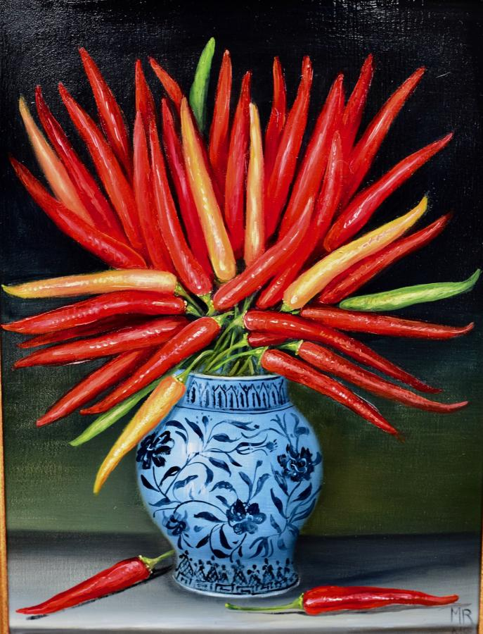 Vase of chillis