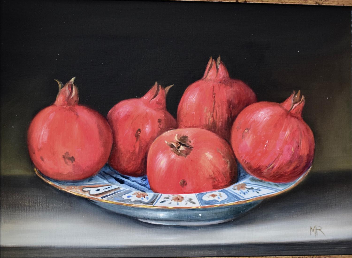 Plate of pomegranates
