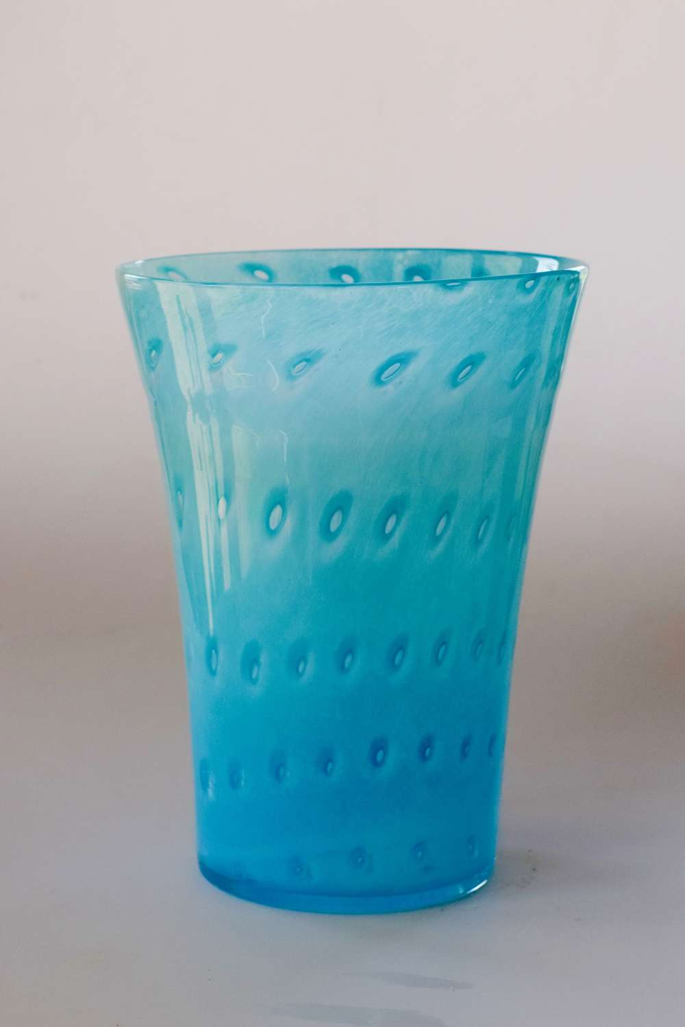 Pale blue cloudy Nazeing vase