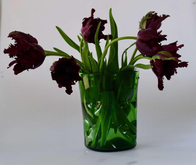 Green dimple vase