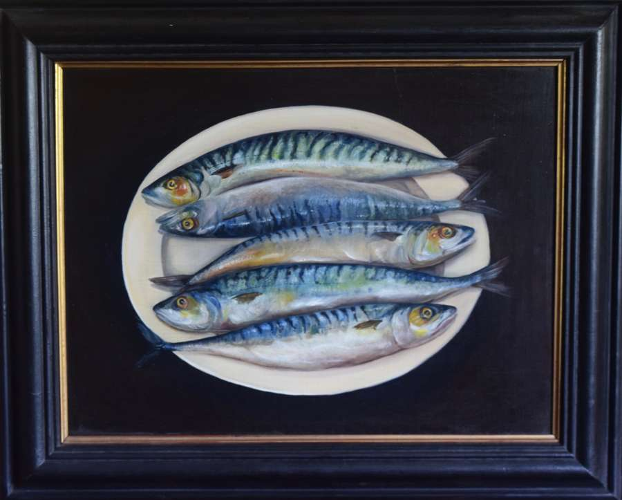 Mackerel on plate