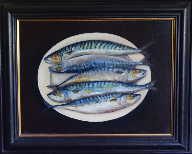 Mackerel on plate
