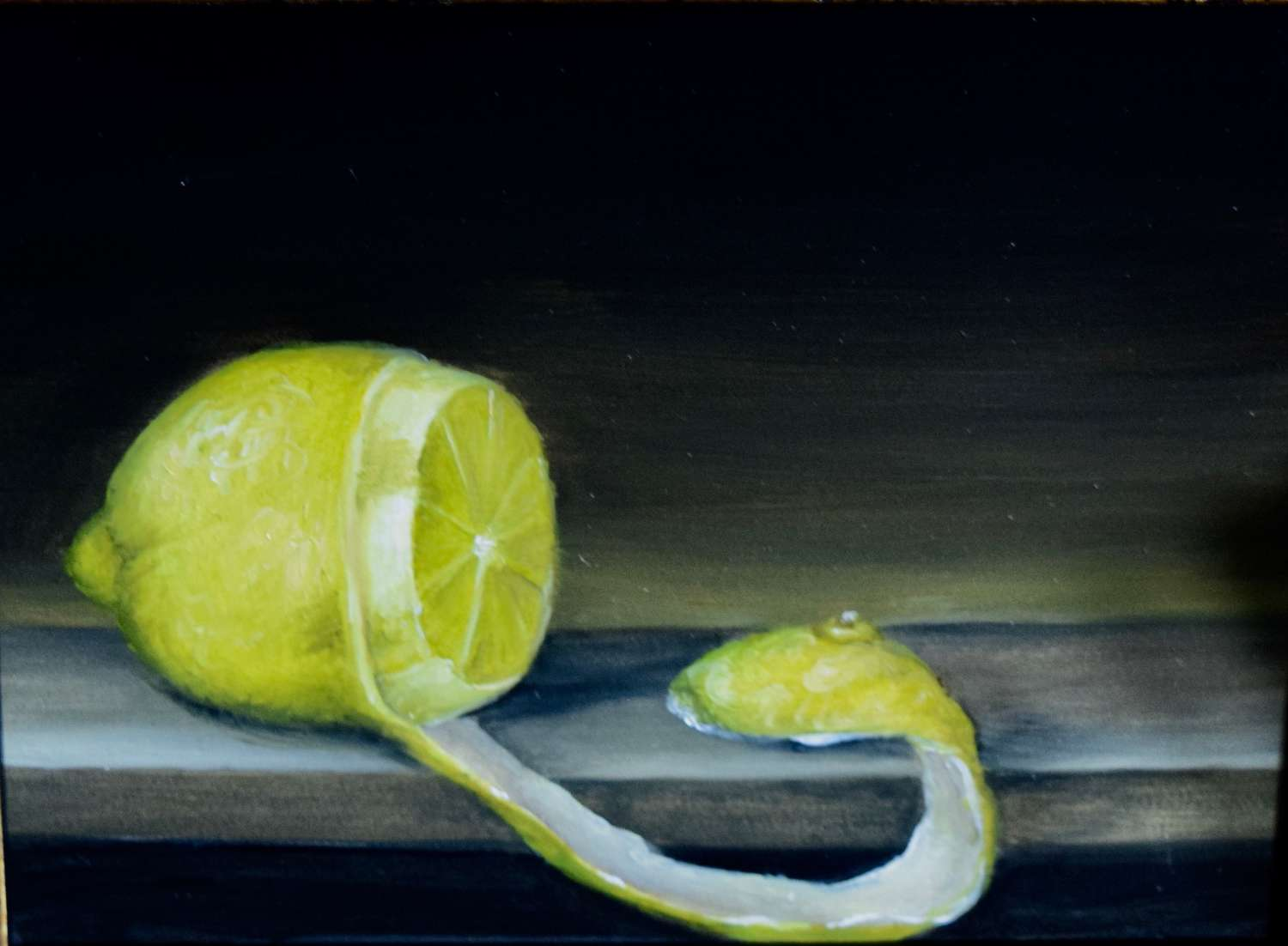 Lemon on shelf