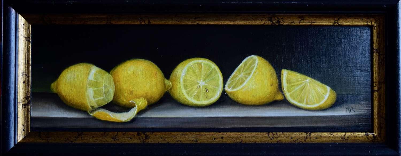 Shelf of lemons