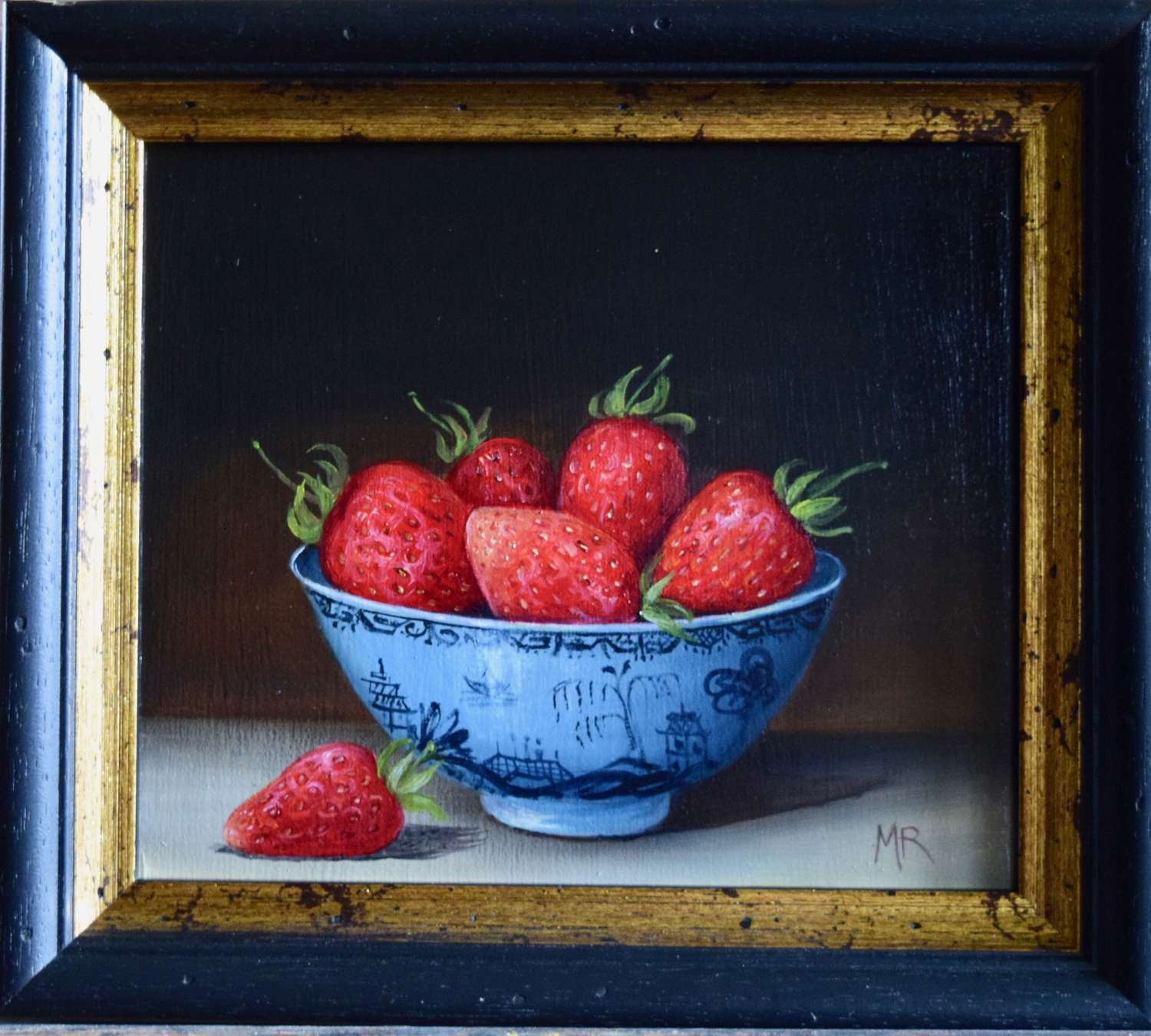 Small bowl of big strawberries