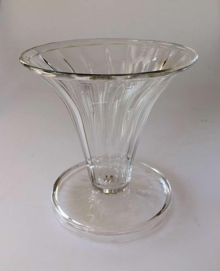 Whitefriars flint fluted vase