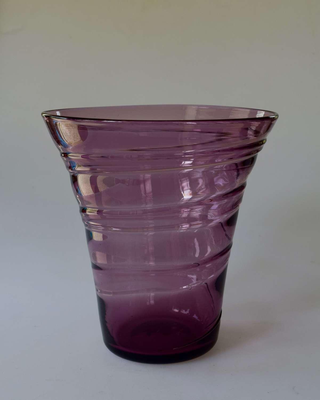 Amethyst spiral vase