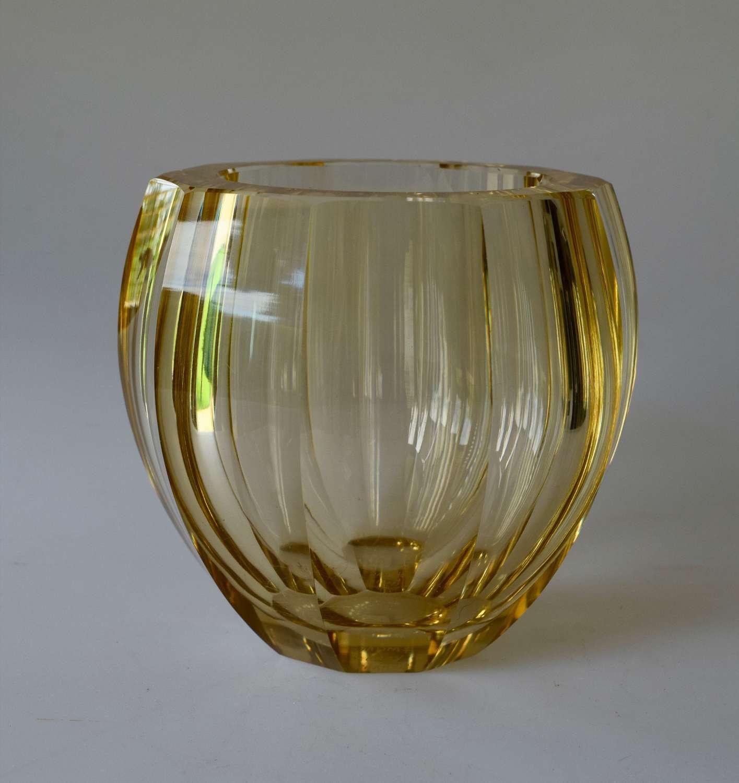 Pale amber Daum vase