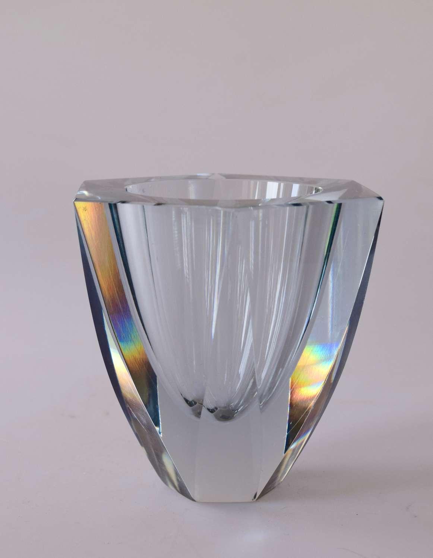 Stromberg facetted vase