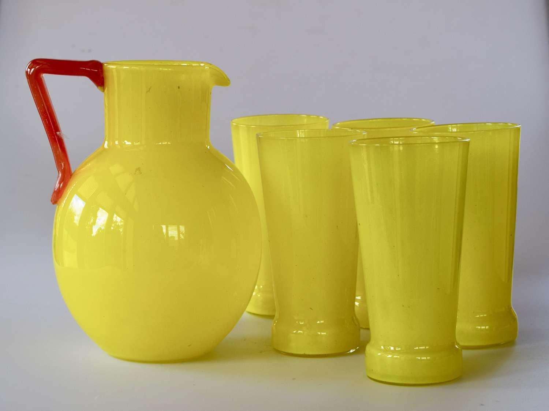 Schneider jug and glasses