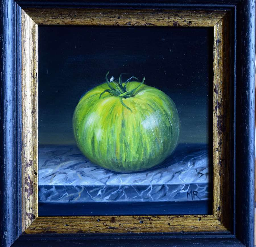 Green stripy tomato