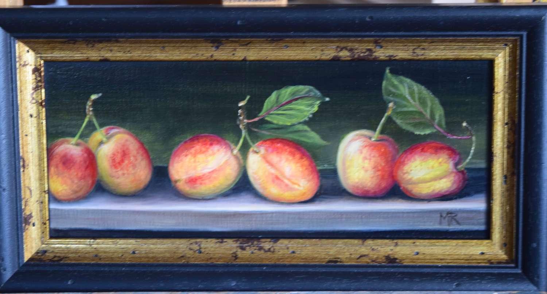 Shelf of plums