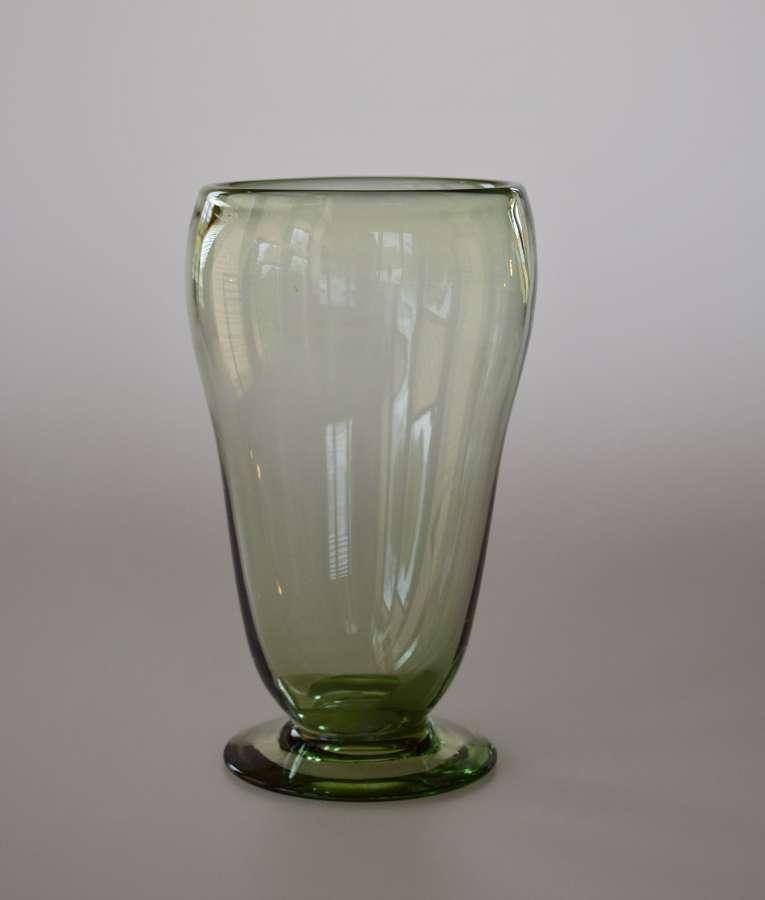 Sea green Whitefriars vase