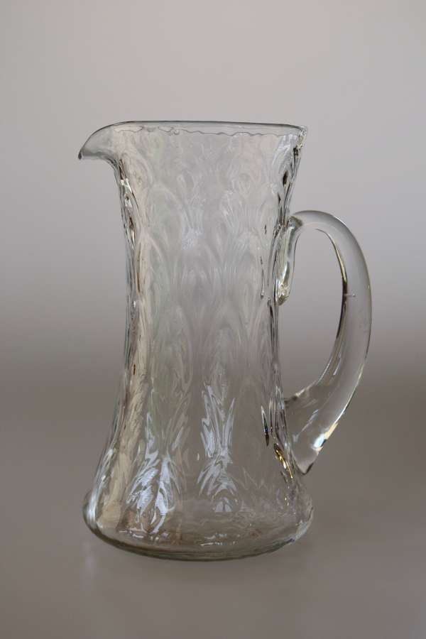 Large wave ribbed jug